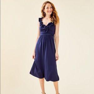 💙NWT Lilly Pulitzer Leena Midi Dress in Navy💙